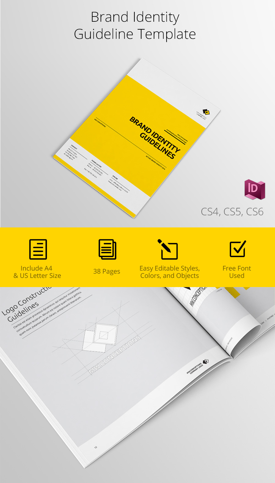 Brand identity guidelines template on behance maxwellsz