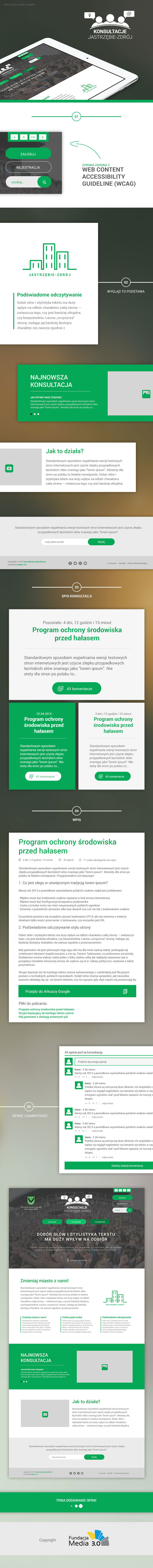 green Web design media new modern minimalist site