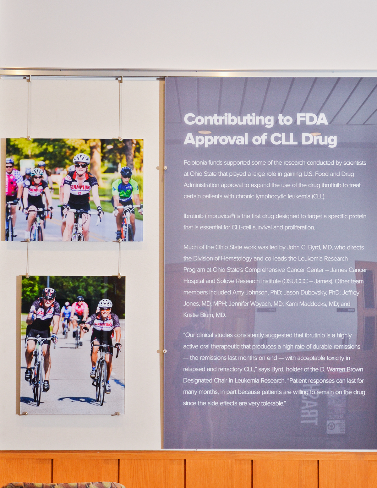 photo charity pelotonia Team Buckeye Biomedical Research wall Cycling bikes ohio columbus acrylic acrylic print print The James one goal