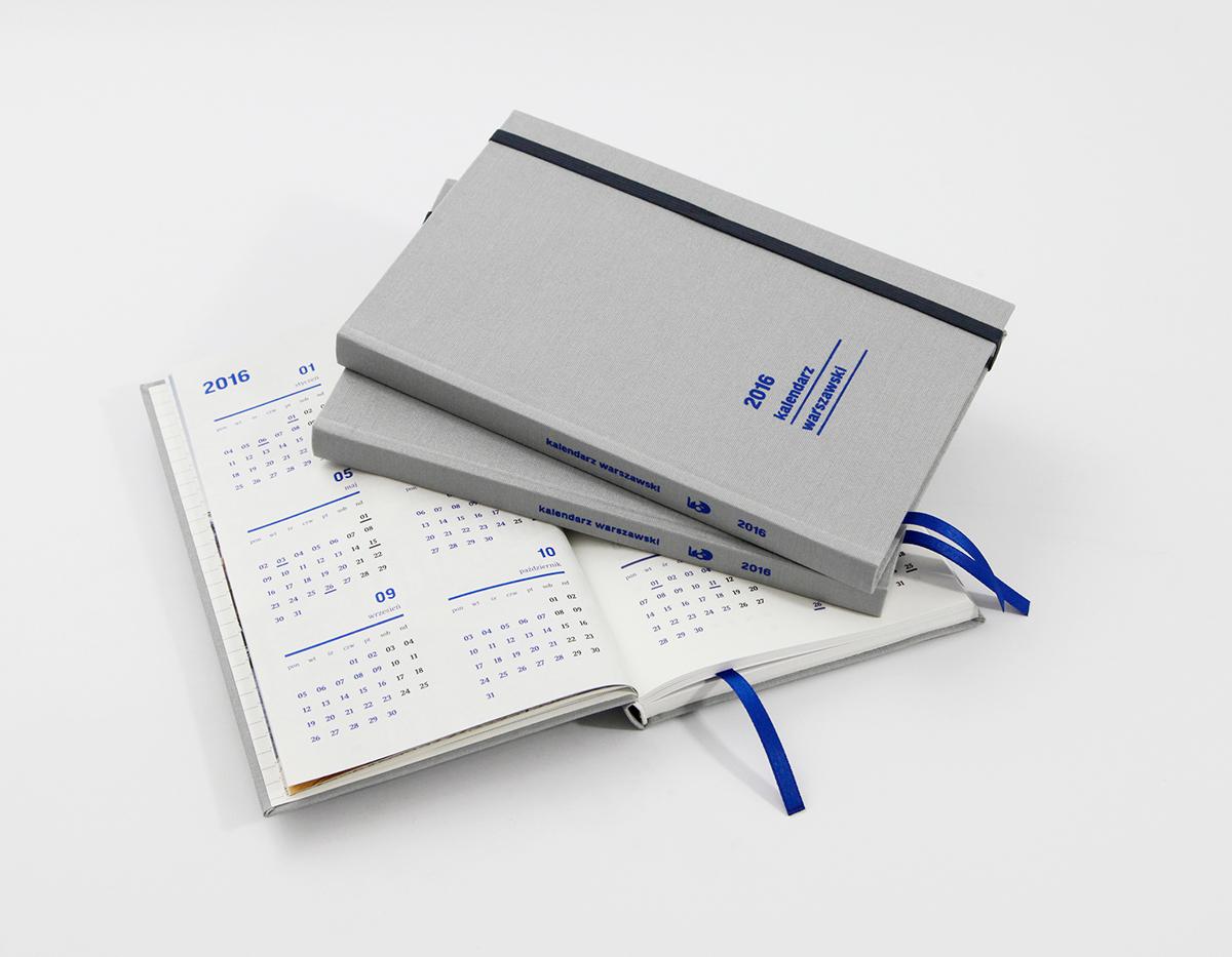 Calendar Notebook 2016 : Warsaw calendar notebook on behance