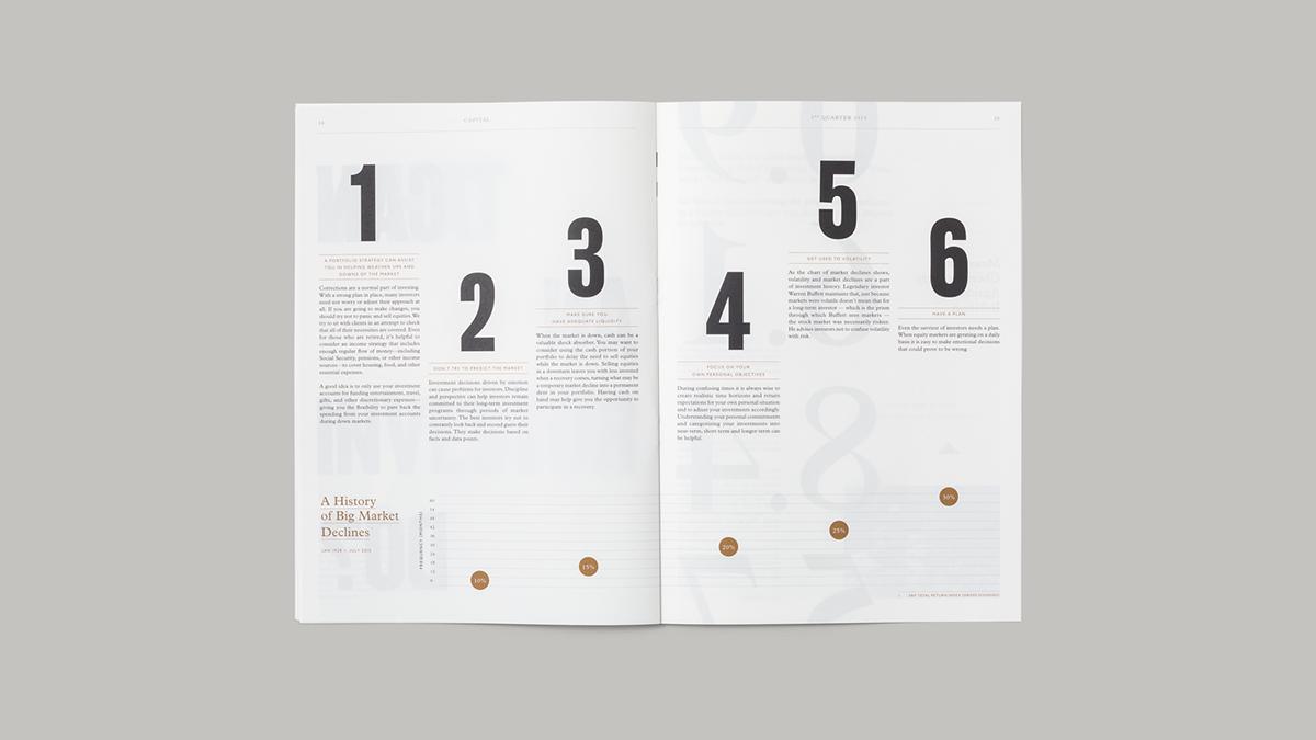 clean type Layout magazine grid newspaper bold foil bronze print Data infographics