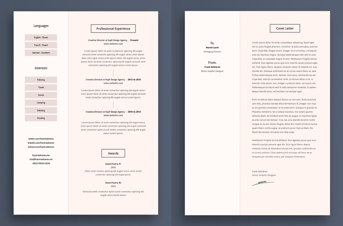 Best free resume templates on behance form resume template pronofoot35fo Images