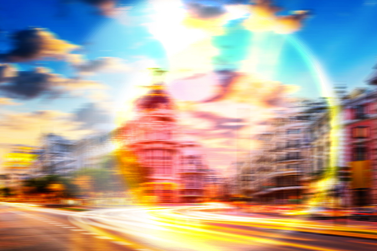 photoshop Illustrator visual effect lights colors disorders visual auras scotomas Digital Art  Visions