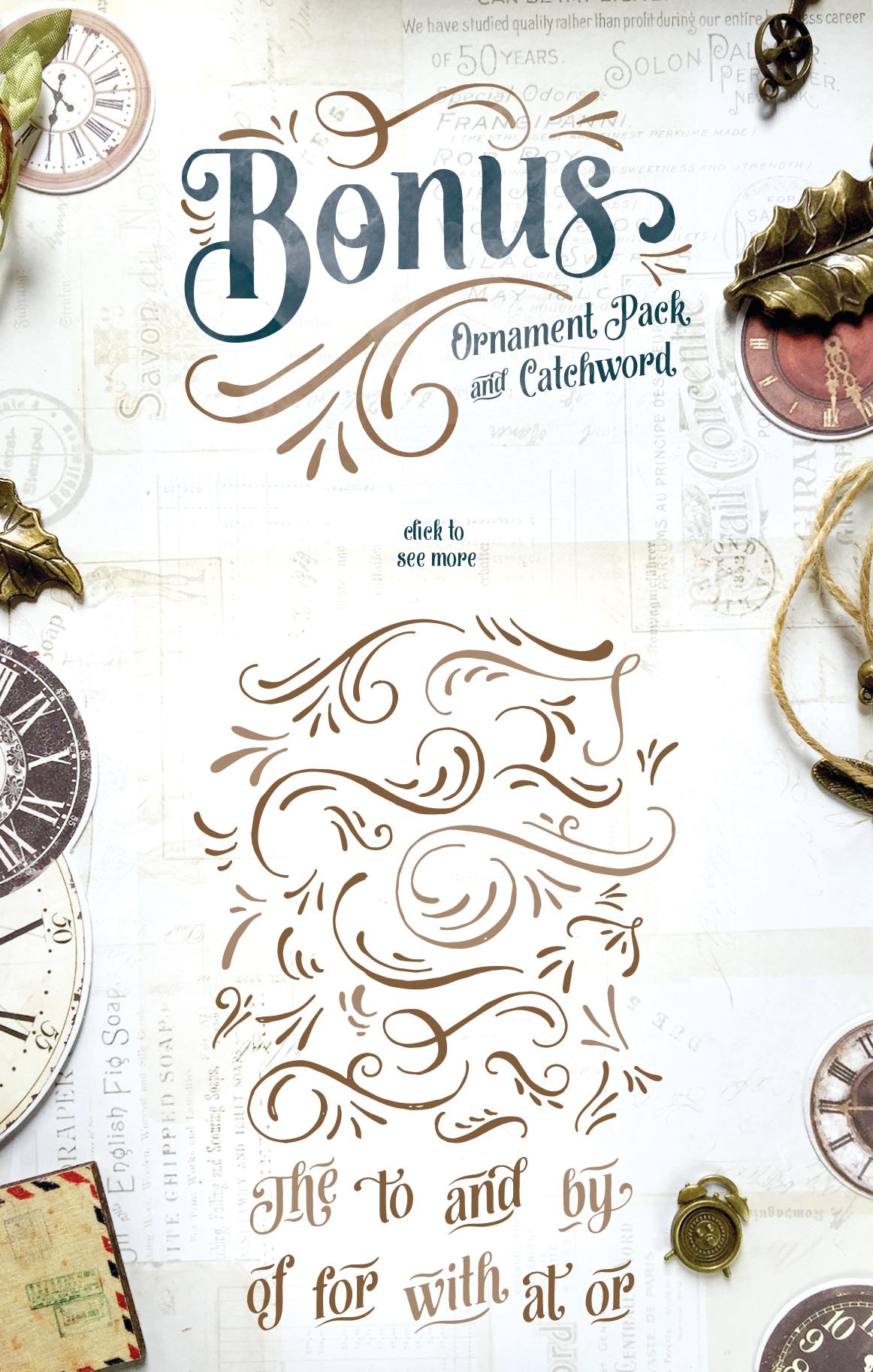 vintage postcard scrapbook Invitation Handlettering swash ornament serif handdrawn Display Opentype posters Lable Free font free