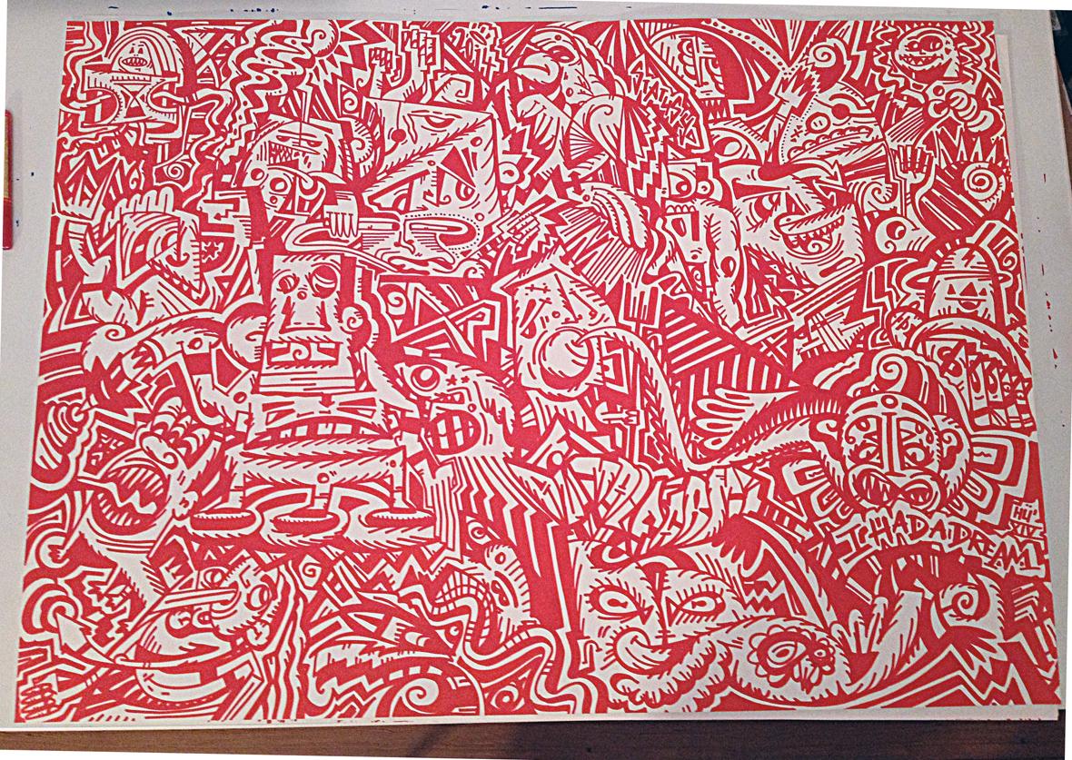 Abstracts coloured berlin hamburg Patterns molotow edding Freetslye Custom