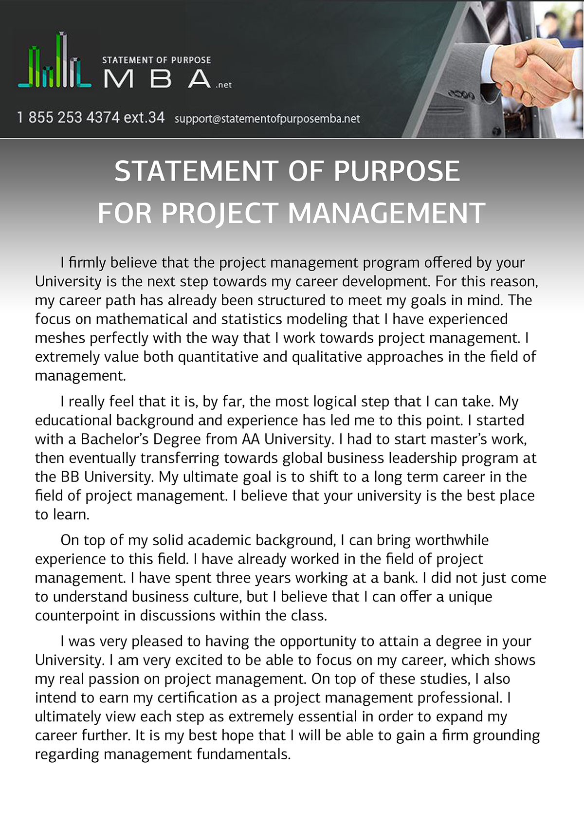 sample statement of purpose for project management on behance check of our sample as an example on statementofpurposemba net professional mba statement of purpose for project management