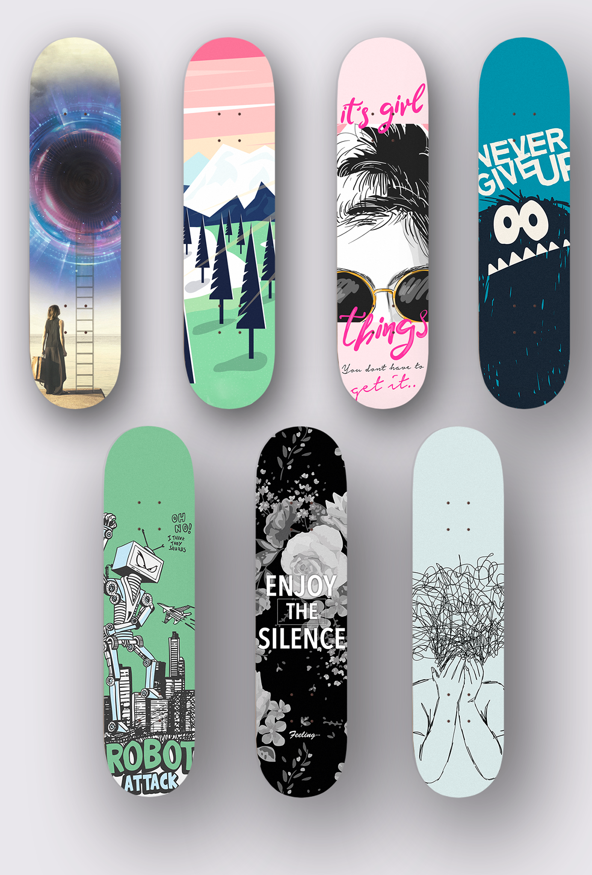 Custom skate decks #SkateJamContest on Wacom Gallery