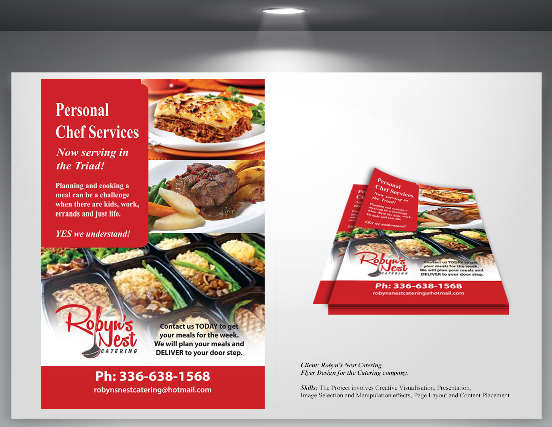 flyer design for catering company on behance