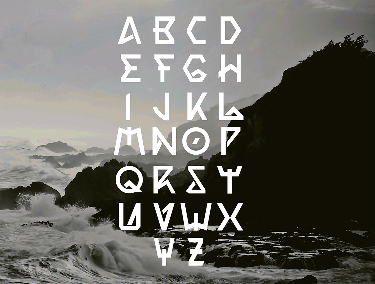 poseidon typeface on behance