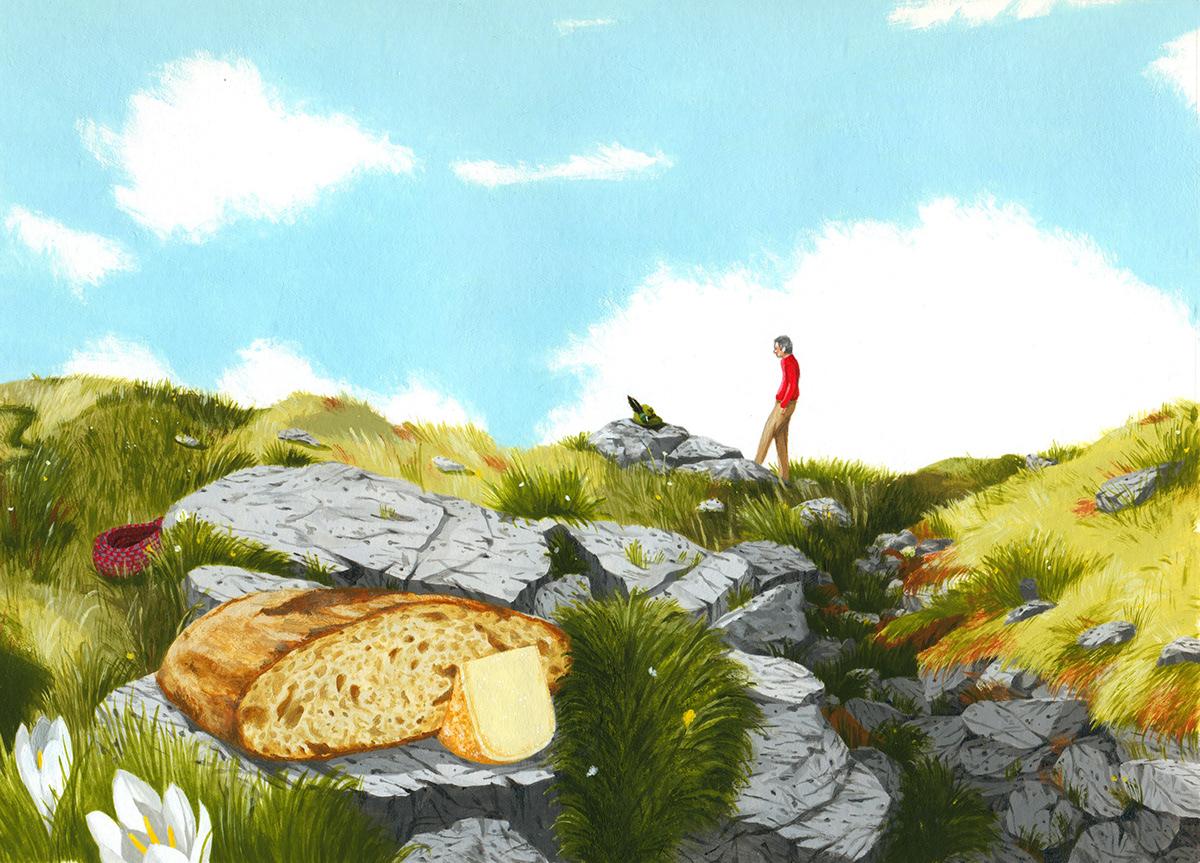 Alma Animatori Erri De Luca illustrazione montagna