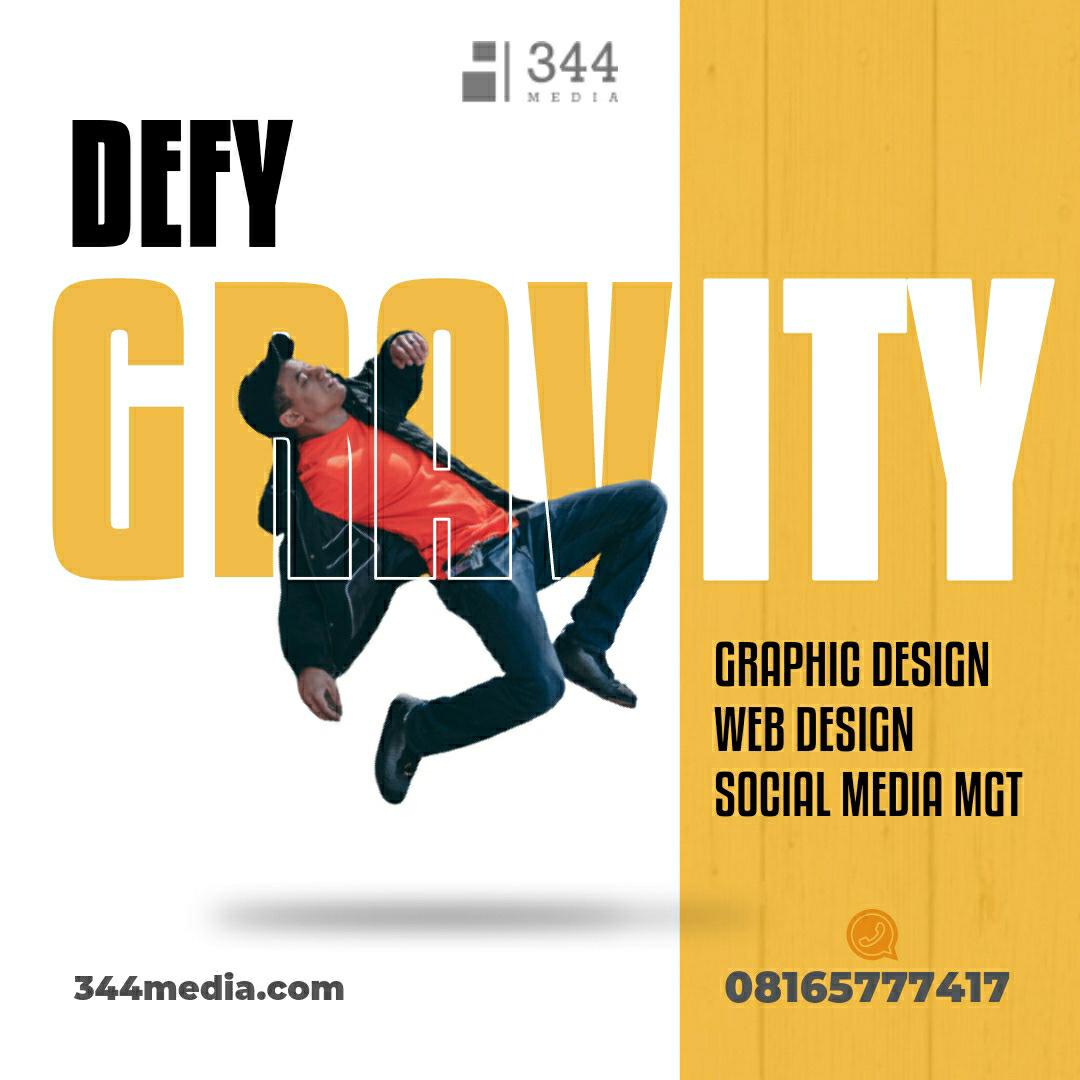 Defy Gravity graphic design  gravity