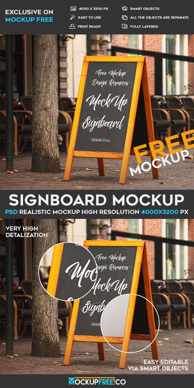 Signboard – Free PSD Mockup on Behance