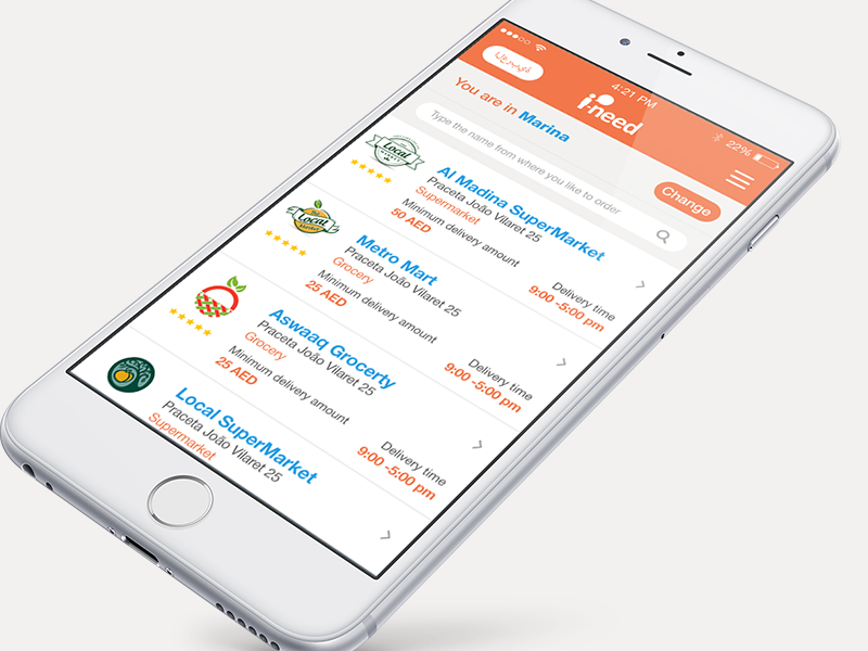 Shopping online Grocery market ios app application mobile