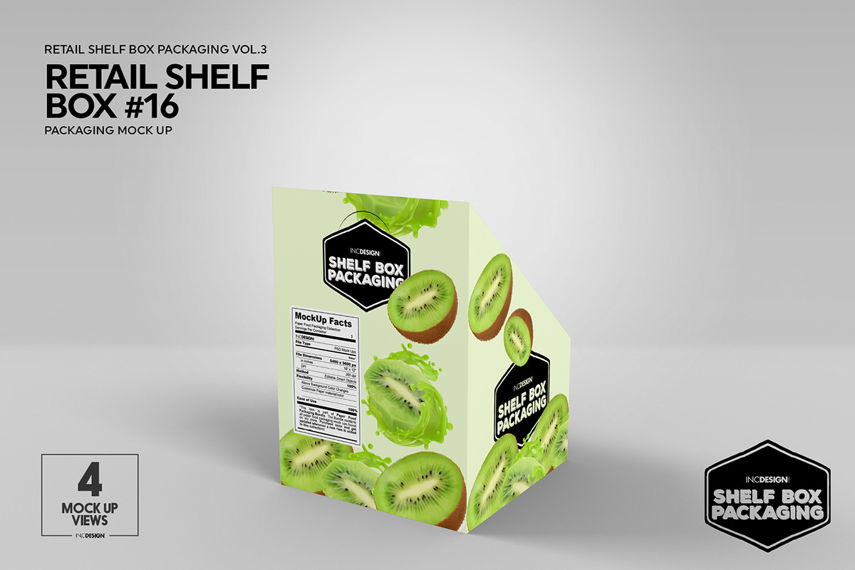 Mockup Template Retail Shelf Box Packaging Vol 03 On Behance