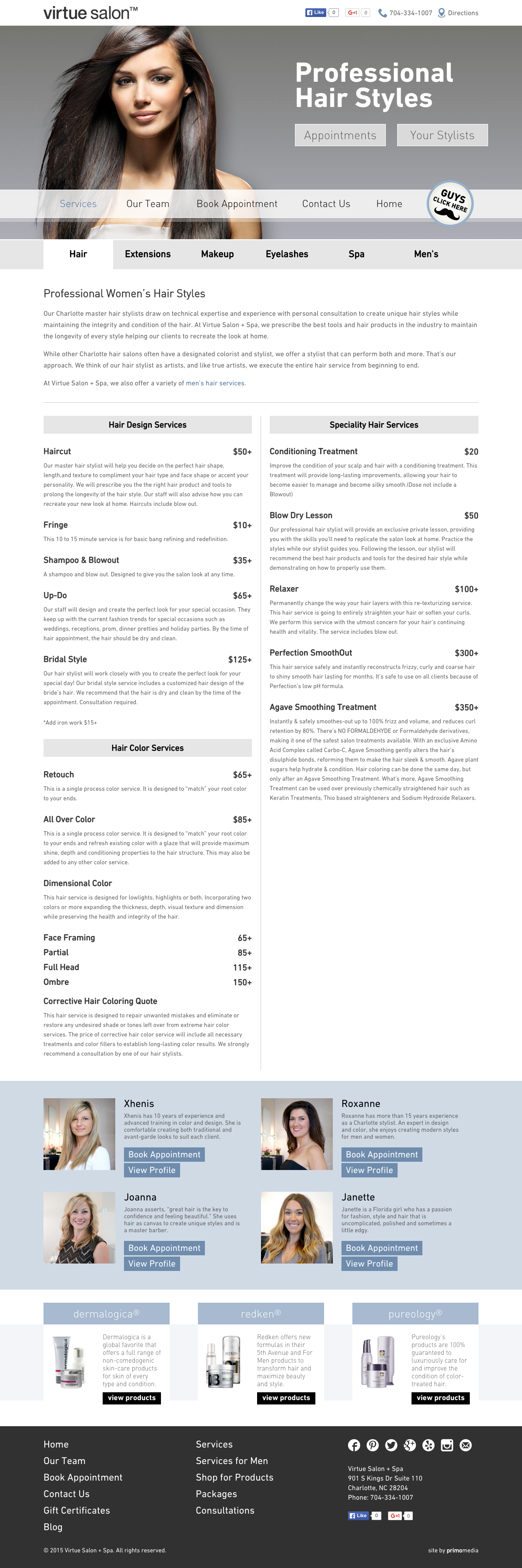 Virtue Salon wordpress Responsive