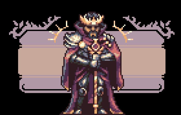 Character rpg mage knight king Pixel art pixel game baner Castle