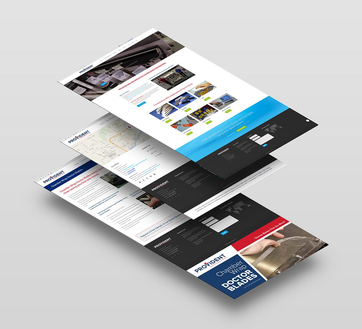 Responsive website design concepts for manufacturer