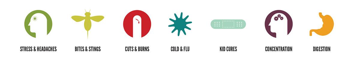 Adobe Portfolio Layout Packaging print screenprint vector infographic Icon digital poster typography   branding  Plant medicine Health