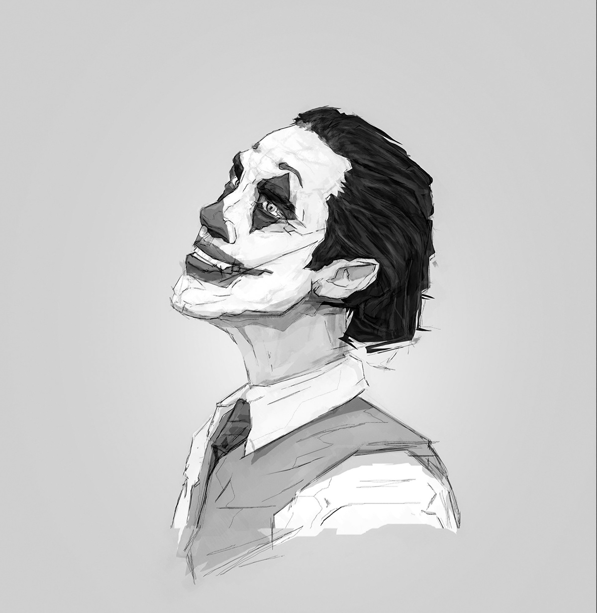 crazy Digital Art  Drawing  franko schiermeyer ILLUSTRATION  joaquin phoenix joker movie movie poster portrait