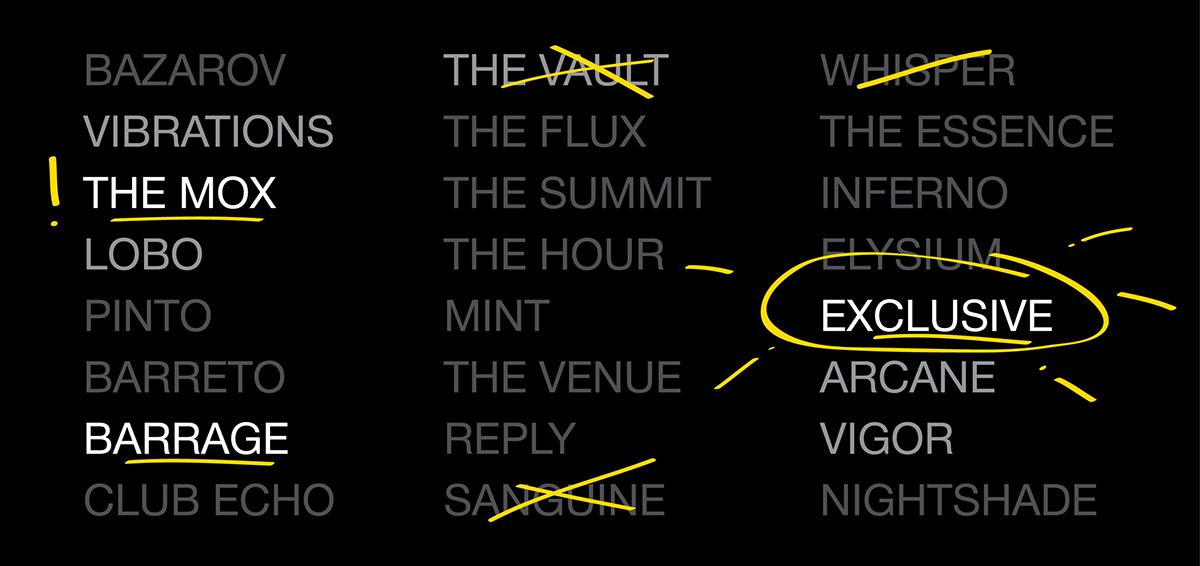 Nightclub Names