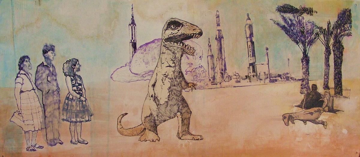 Vintage T REX dinosaurs