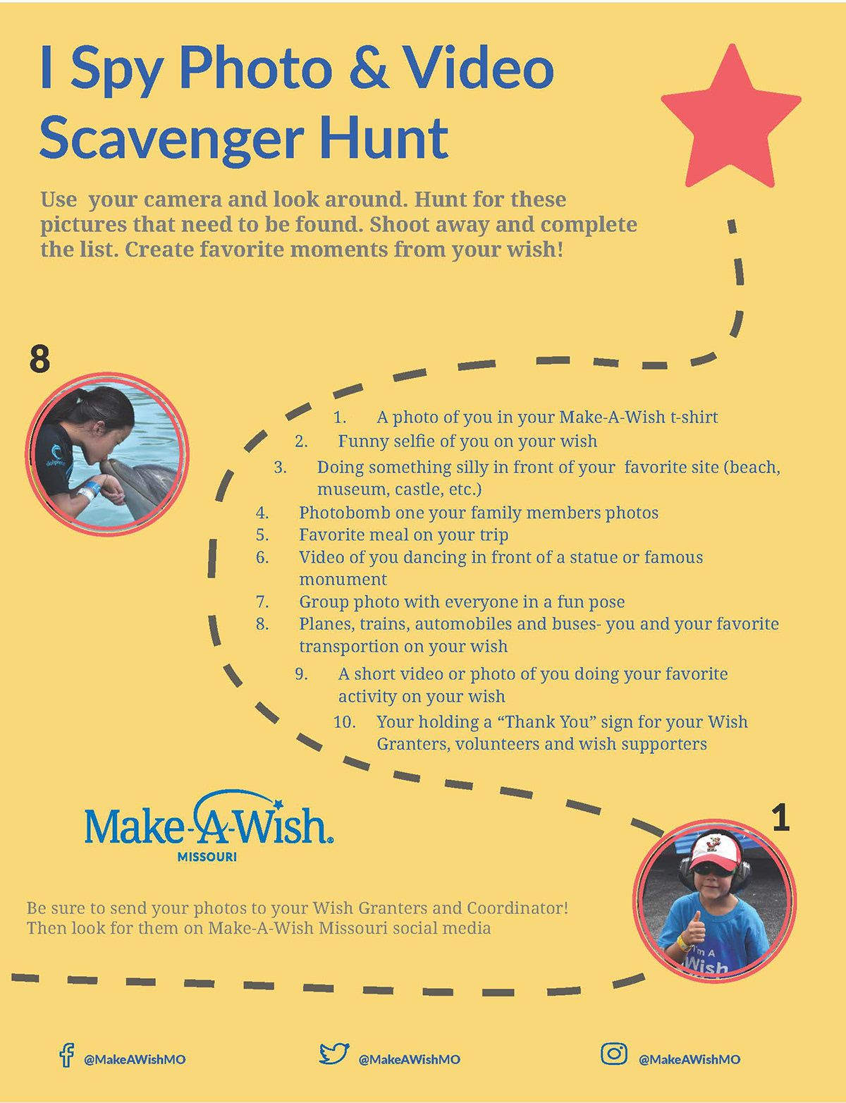 make a work scavenger hunt flyer on behance