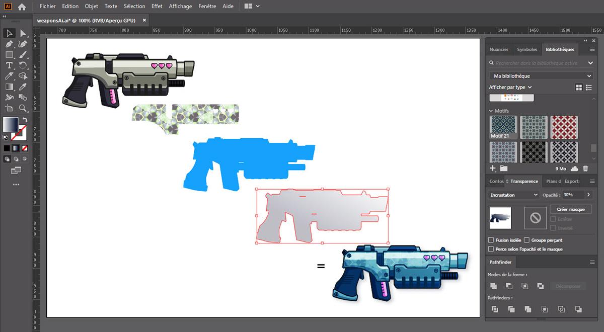 eau Illustrator Love pistolet Soaker vectoriel
