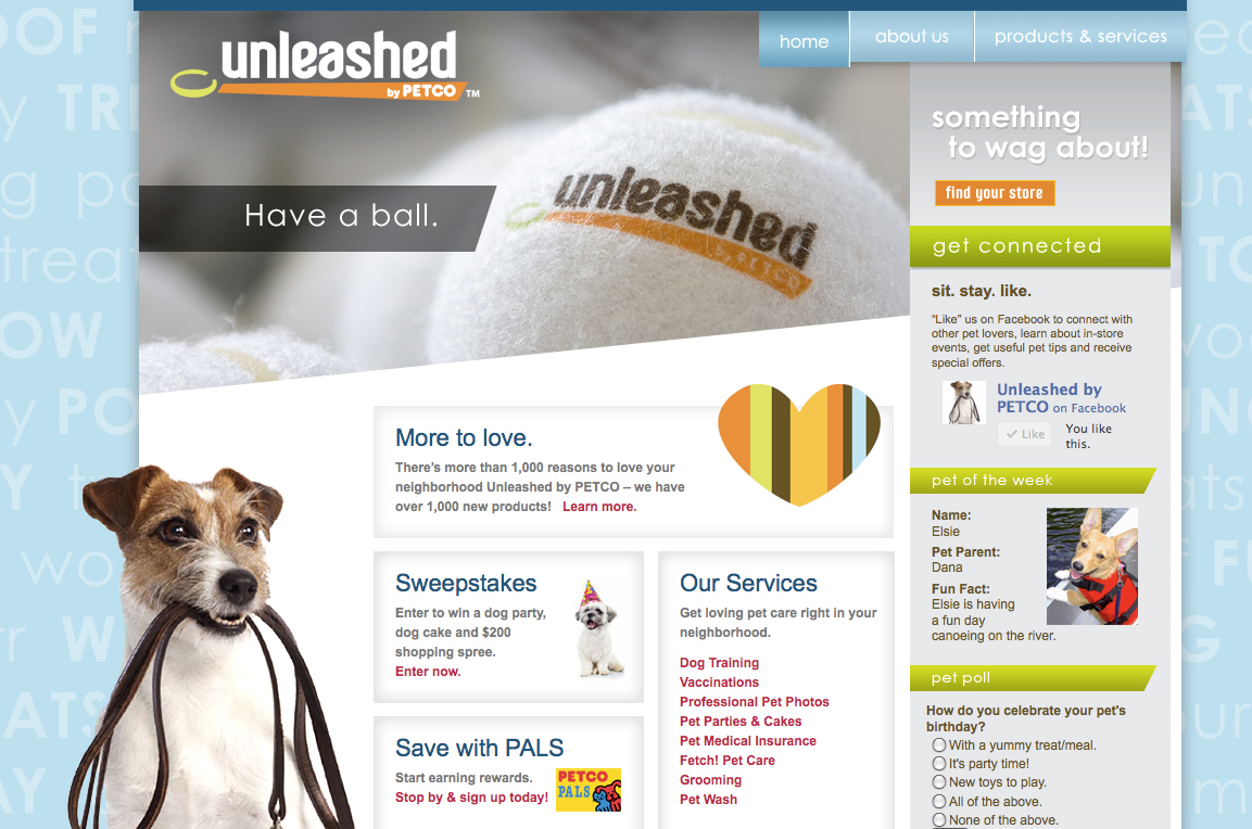 Unleashed com by Petco on Behance