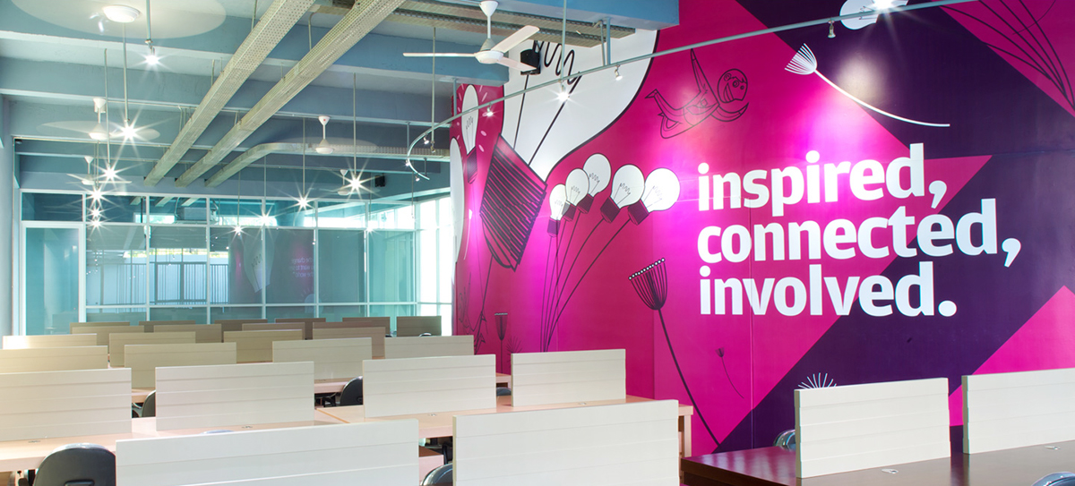The Result Is Wall Graphics Become Part Of Main Attraction POC Interior Design
