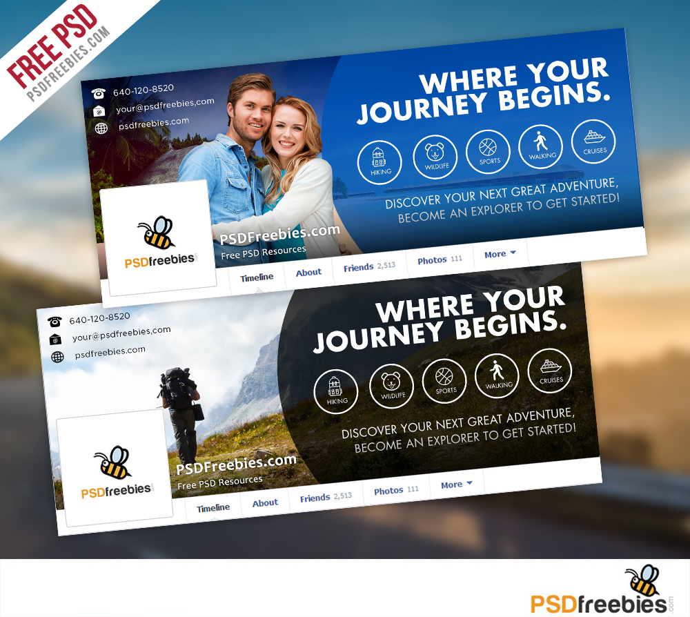 Travel Facebook Timeline Covers Free Psd Templates On Behance