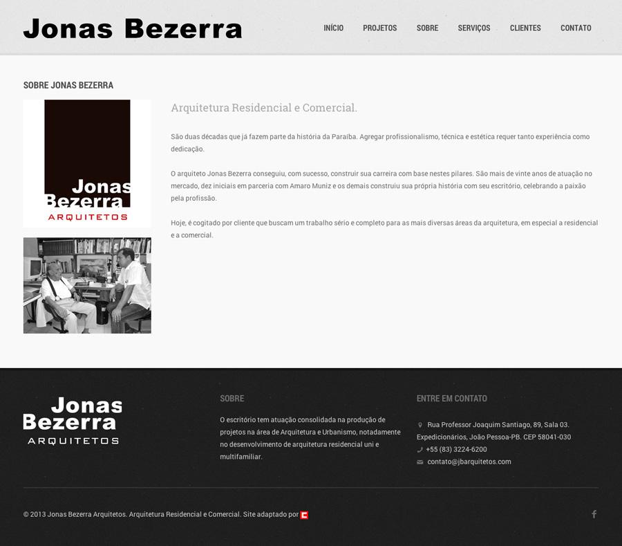 Jonas Bezerra Arquitetos [ Site Responsivo ]