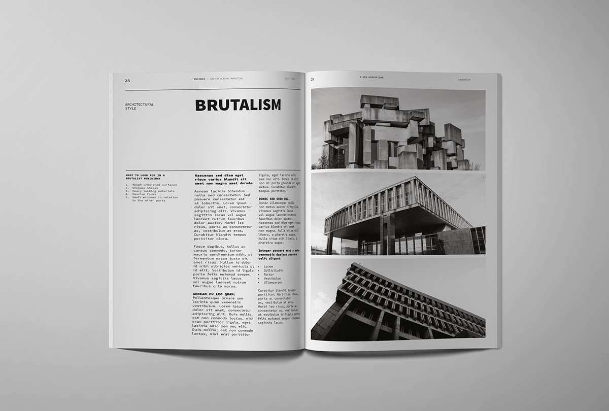 Architecture Magazine Template On Student Show