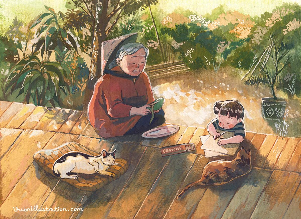 children children's book family grandma vietnam