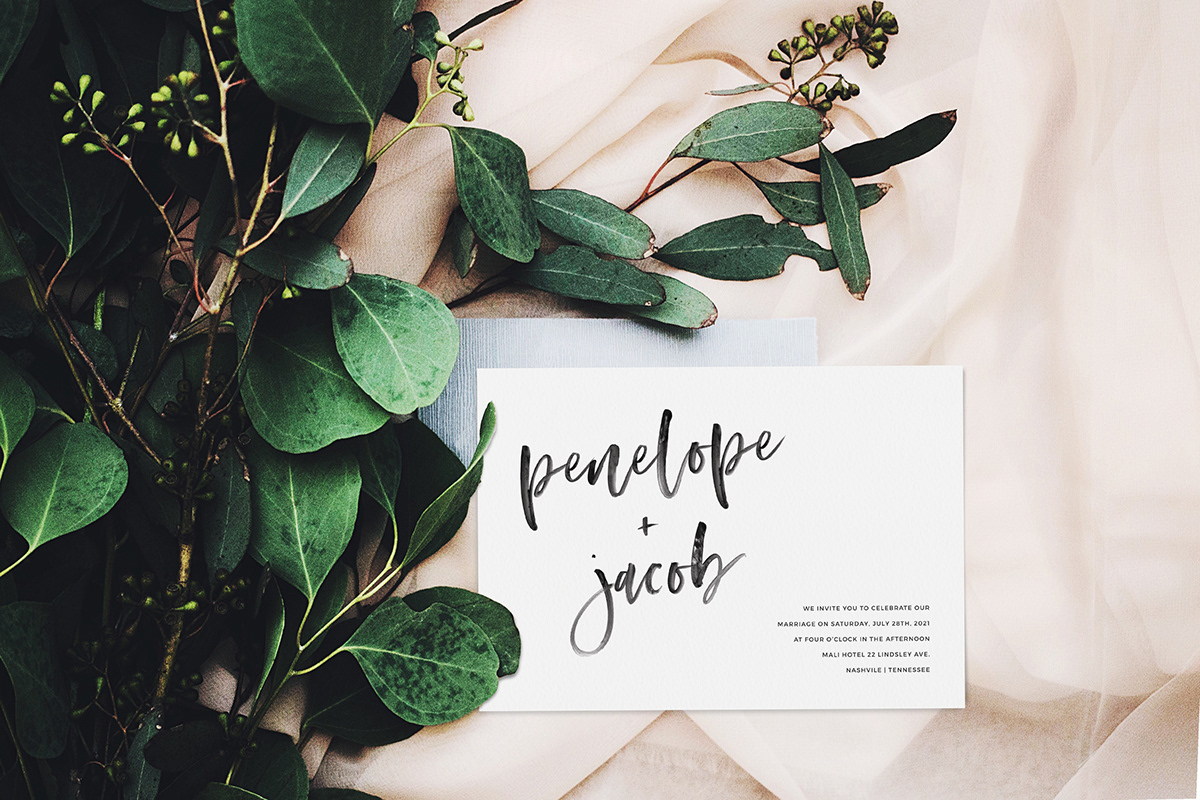 Wedding Invitation Template - Modern Minimalist on Behance