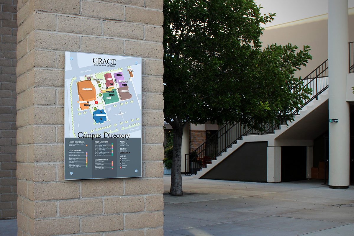 Campus Directory and Signs on Behance