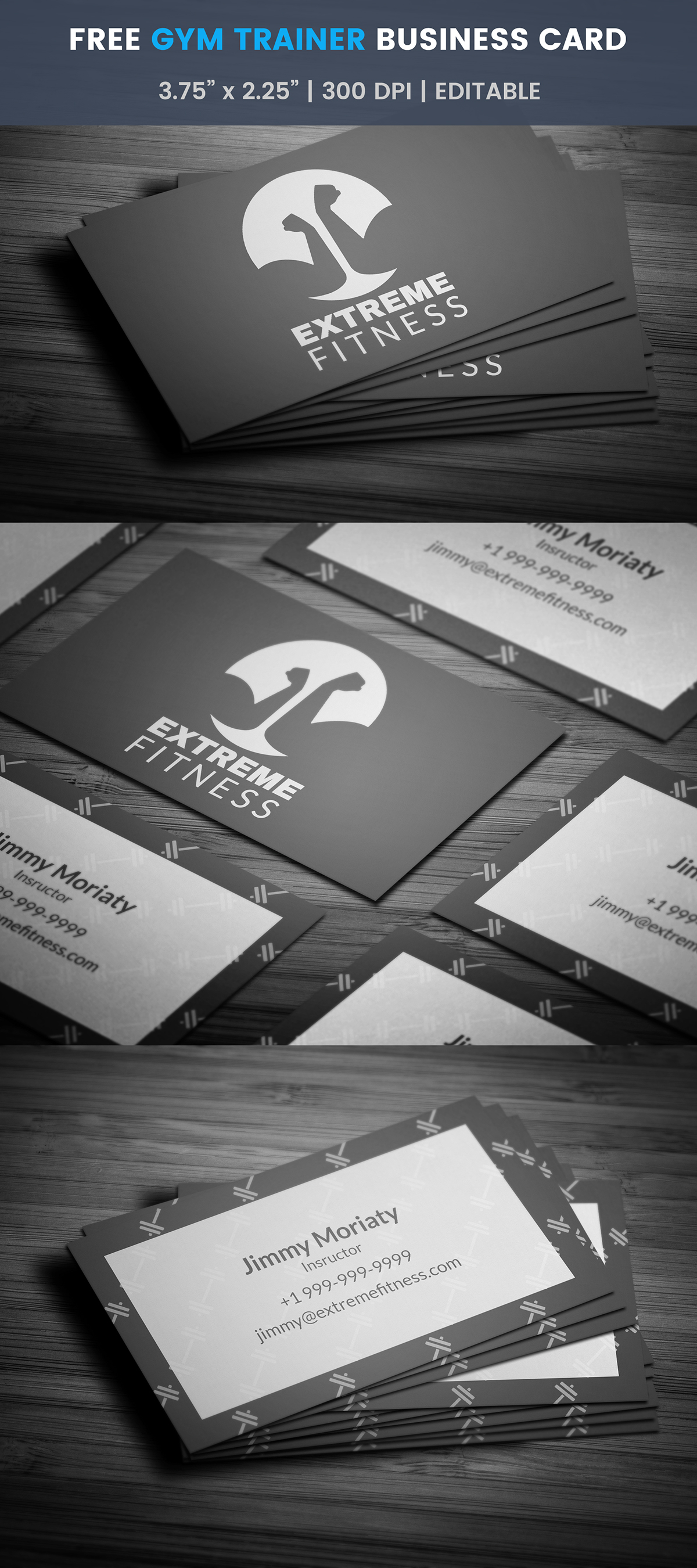 Free fitness business card template on student show free fitness business card template fbccfo Images