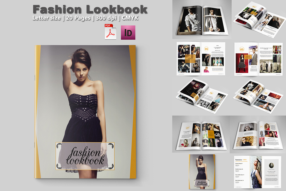 Fashion lookbook template 20 pages on behance for E magazine templates free download