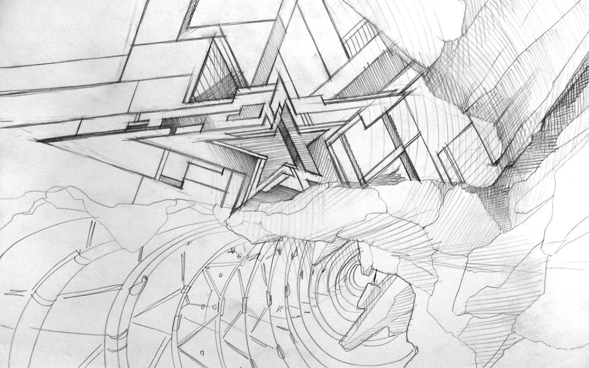 Sketches abstract set 03 on behance