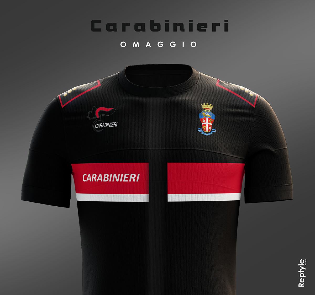 Carabinieri personal idea of soccer kit on Behance 2d204d251