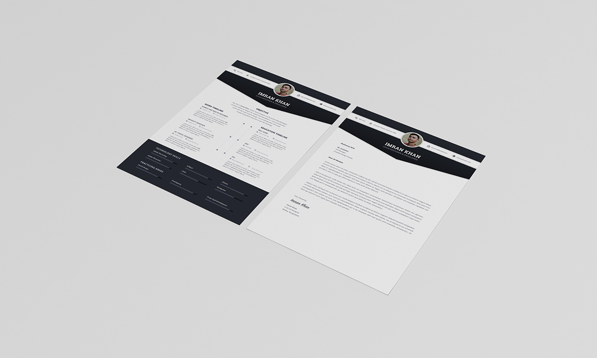 FREE Resume Template PSD (4 Colors) on Student Show