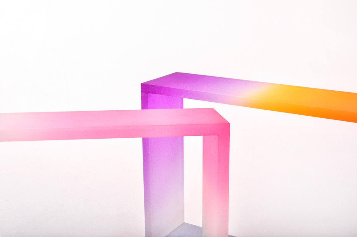 vase design Vase acrylic colorful product minimal design