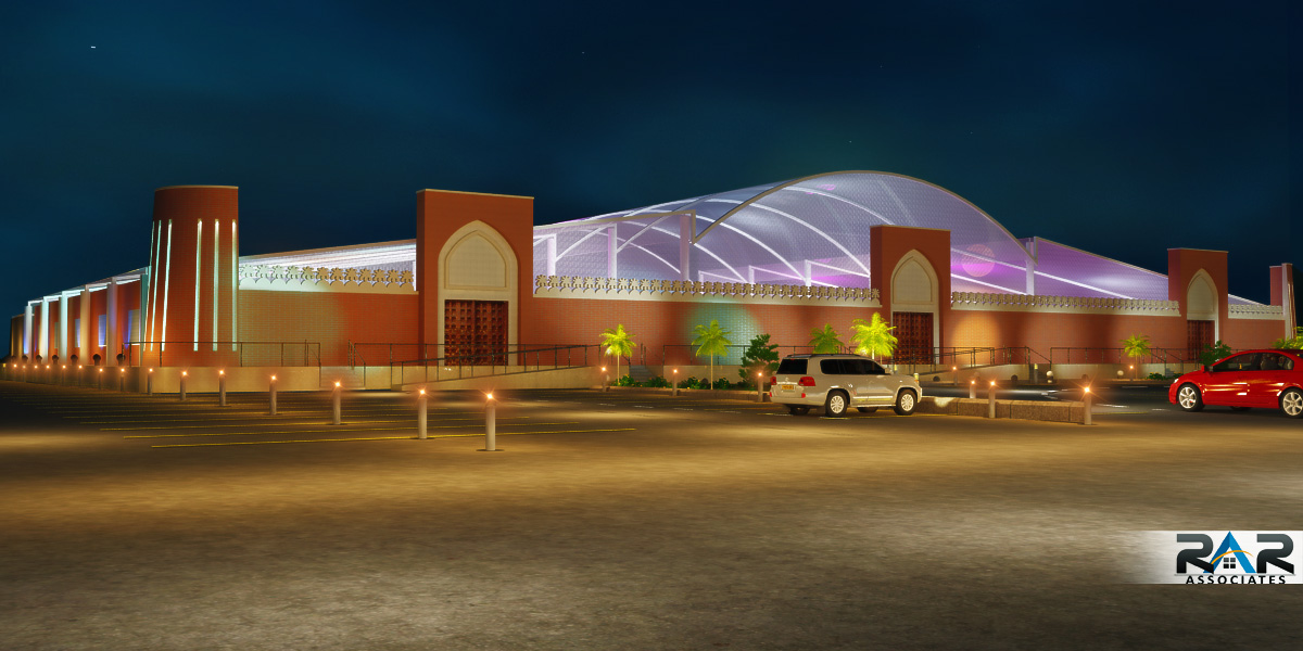 Marriage Hall Front Elevation Designs : Marriage hall design on behance