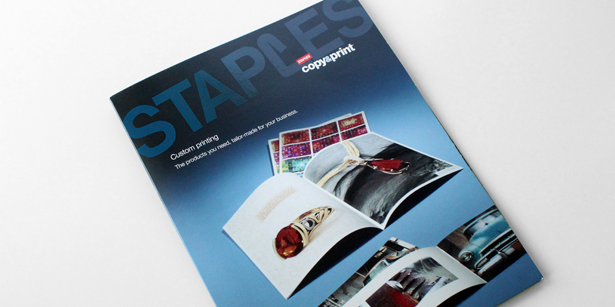 staples copy print capabilities folder on behance