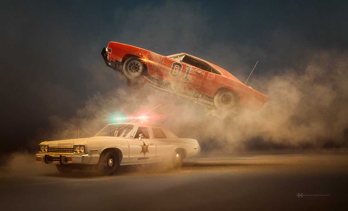 Scale car toy photography Cars movie dukes Photography  bts behind the scenes