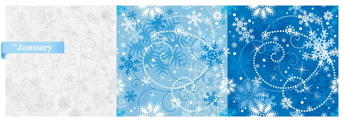 seamless vector ornaments pattern decorative ILLUSTRATION  12months year all seasons
