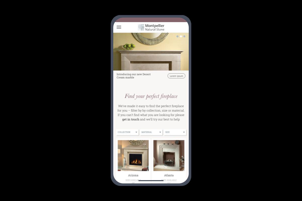 integration Responsive web design rwd fireplace