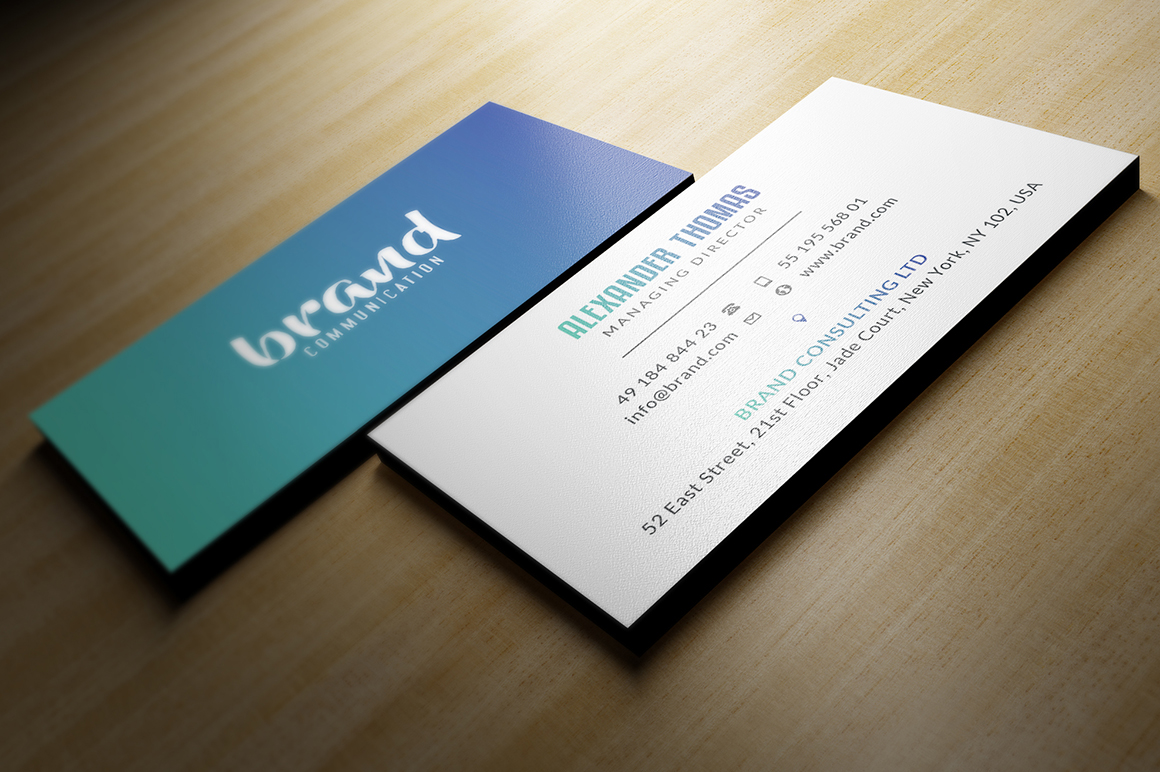 Gradient Business Card on Behance