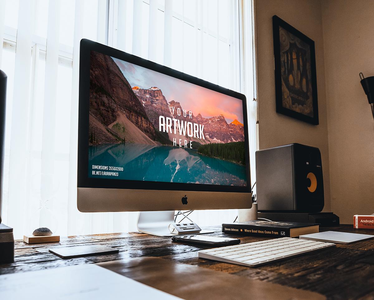 Free Mac Desktop Mockup .PSD