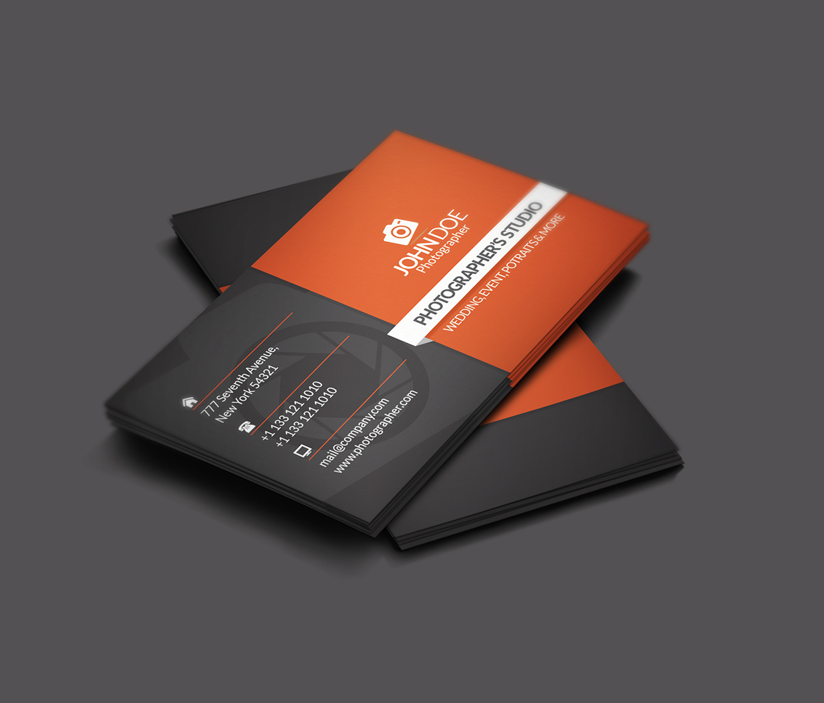 Free Photographer Business Card Psd Files On Behance