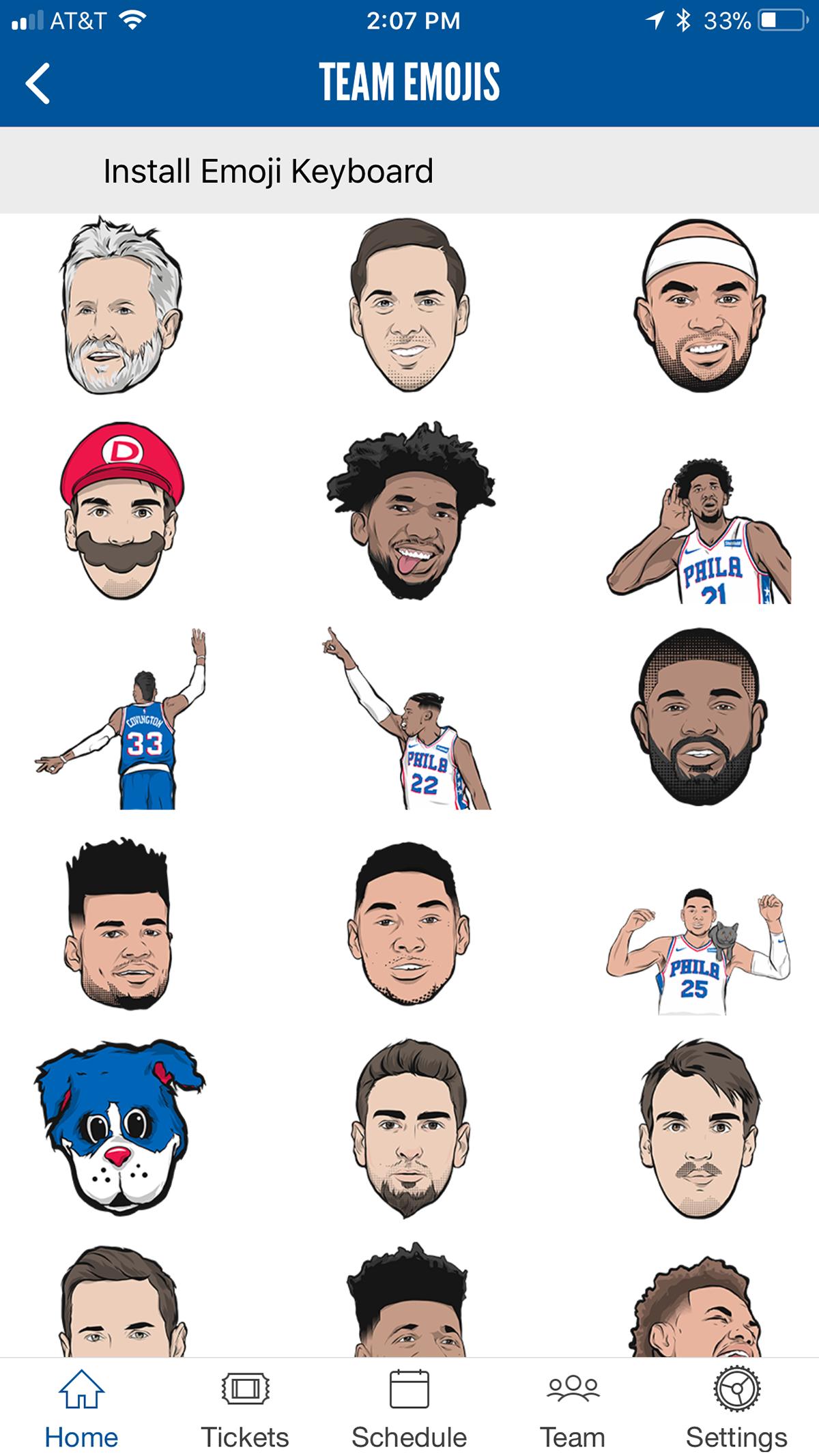 Philadelphia 76ers: Emoji and Sixers Social Night on Behance